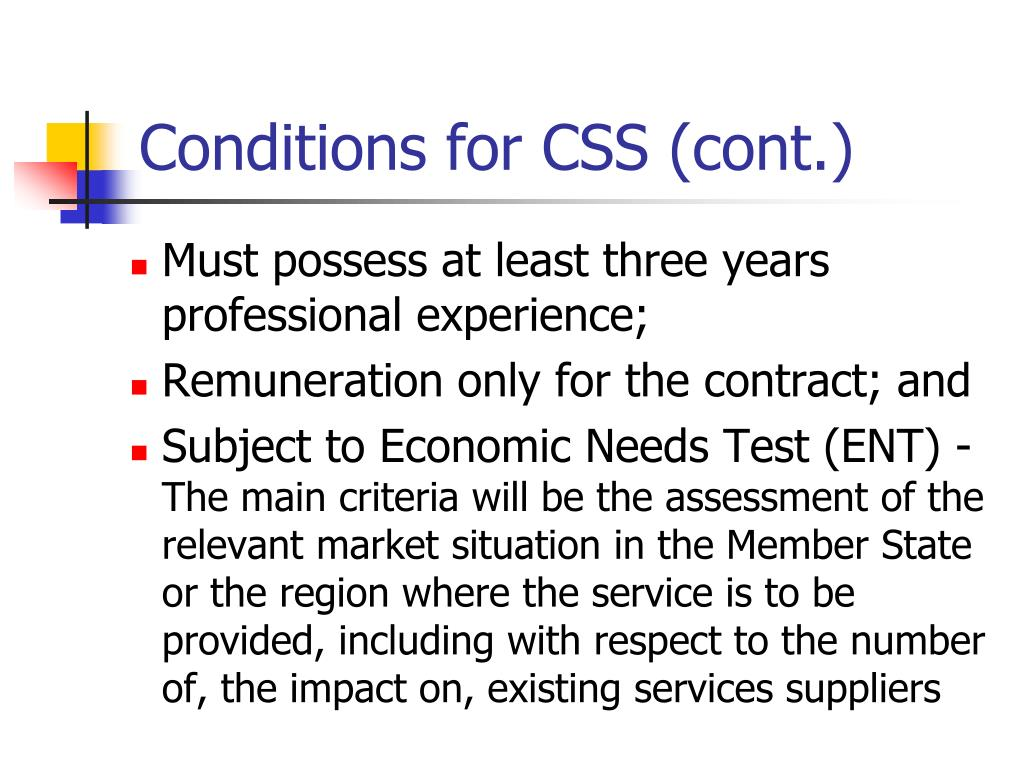 Conditions for CSS (cont.)