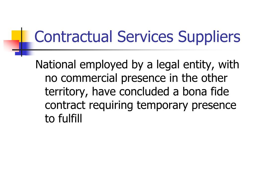Contractual Services Suppliers