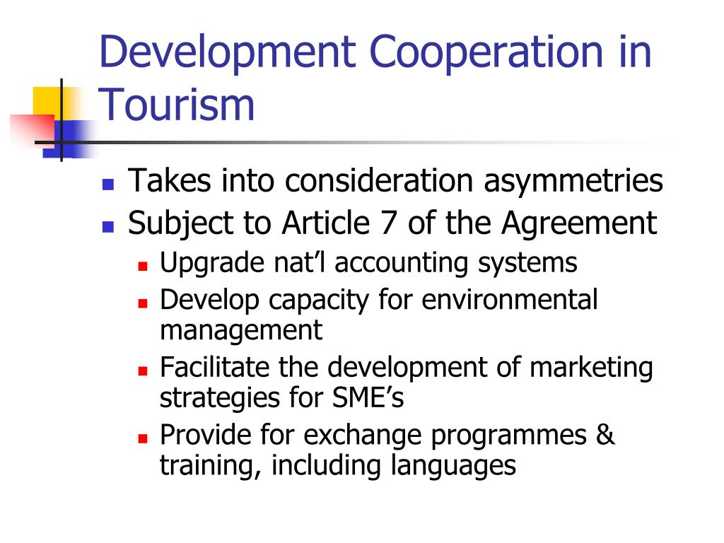 Development Cooperation in Tourism