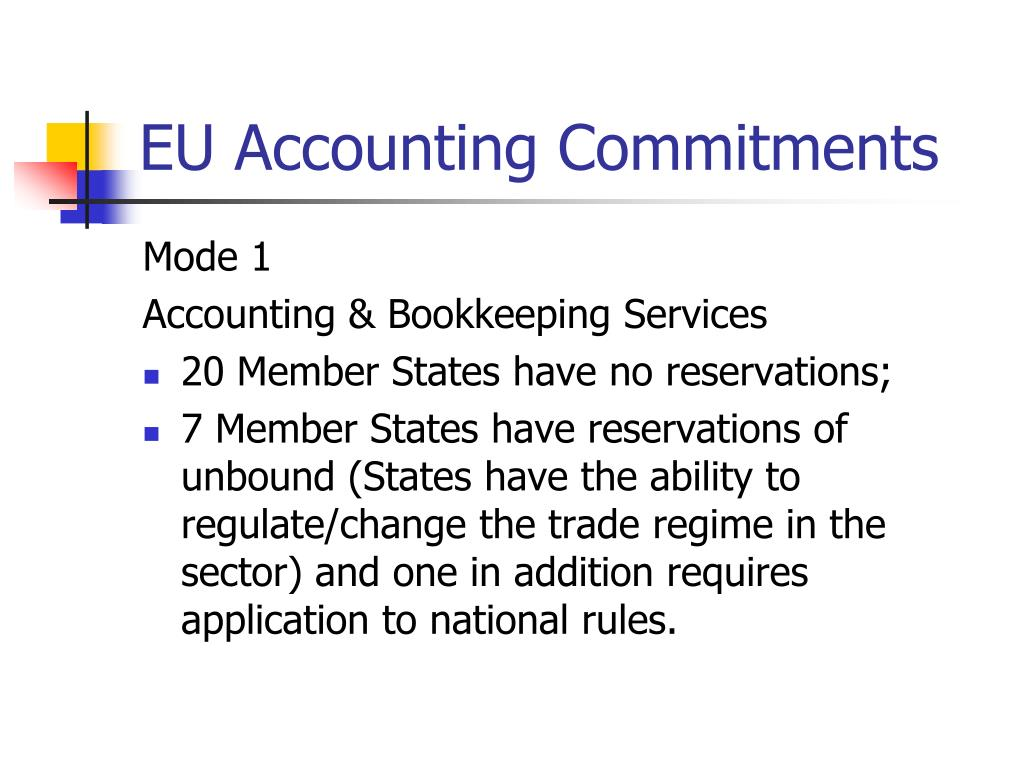 EU Accounting Commitments