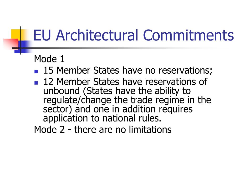EU Architectural Commitments