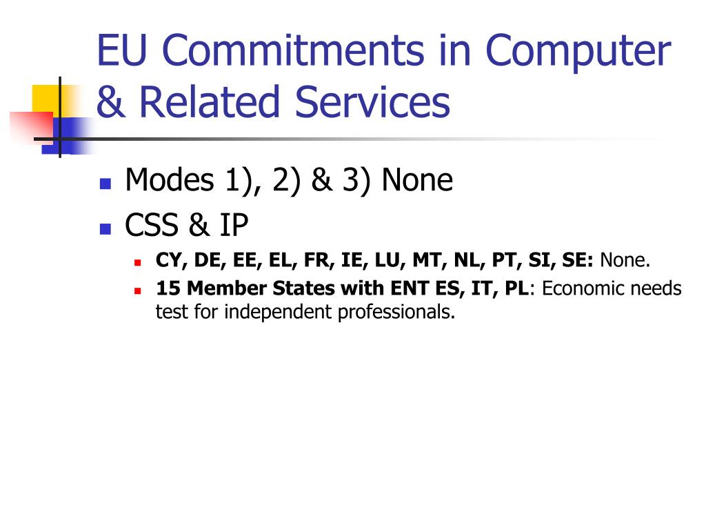 EU Commitments in Computer & Related Services