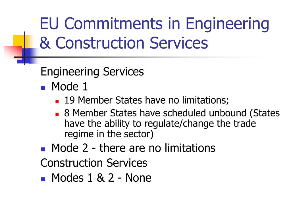 EU Commitments in Engineering & Construction Services