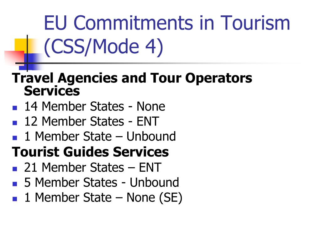 EU Commitments in Tourism (CSS/Mode 4)