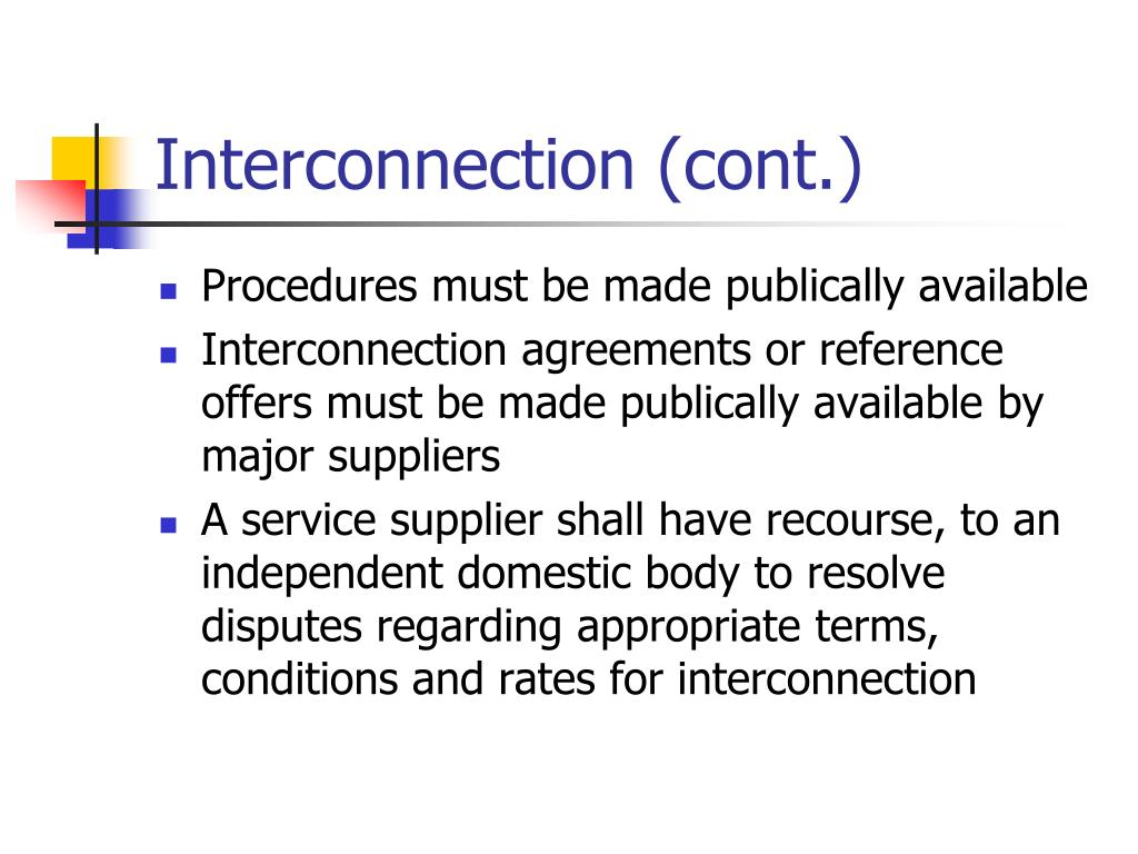 Interconnection (cont.)