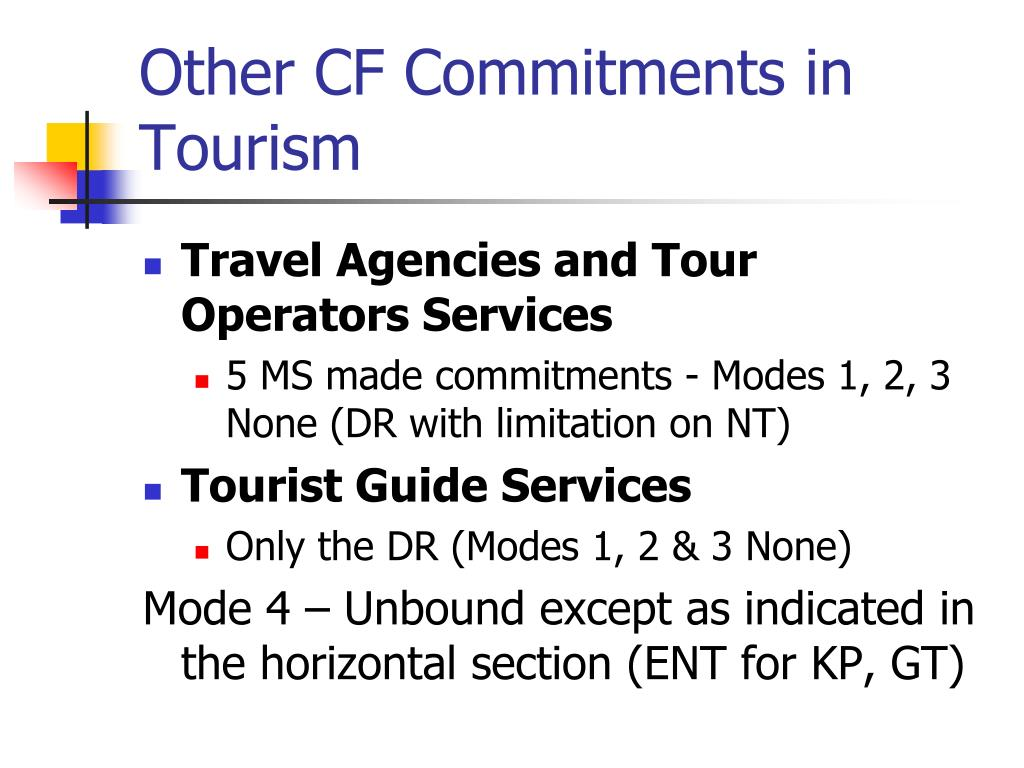 Other CF Commitments in Tourism