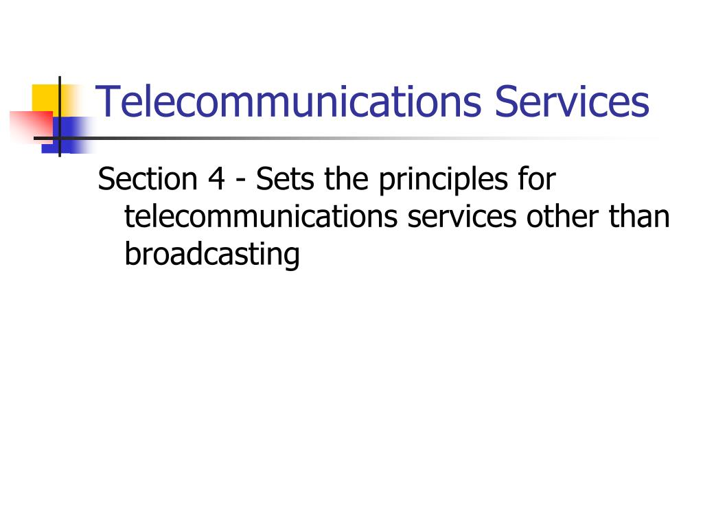 Telecommunications Services