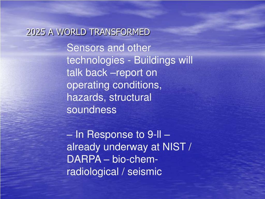 2025 A WORLD TRANSFORMED