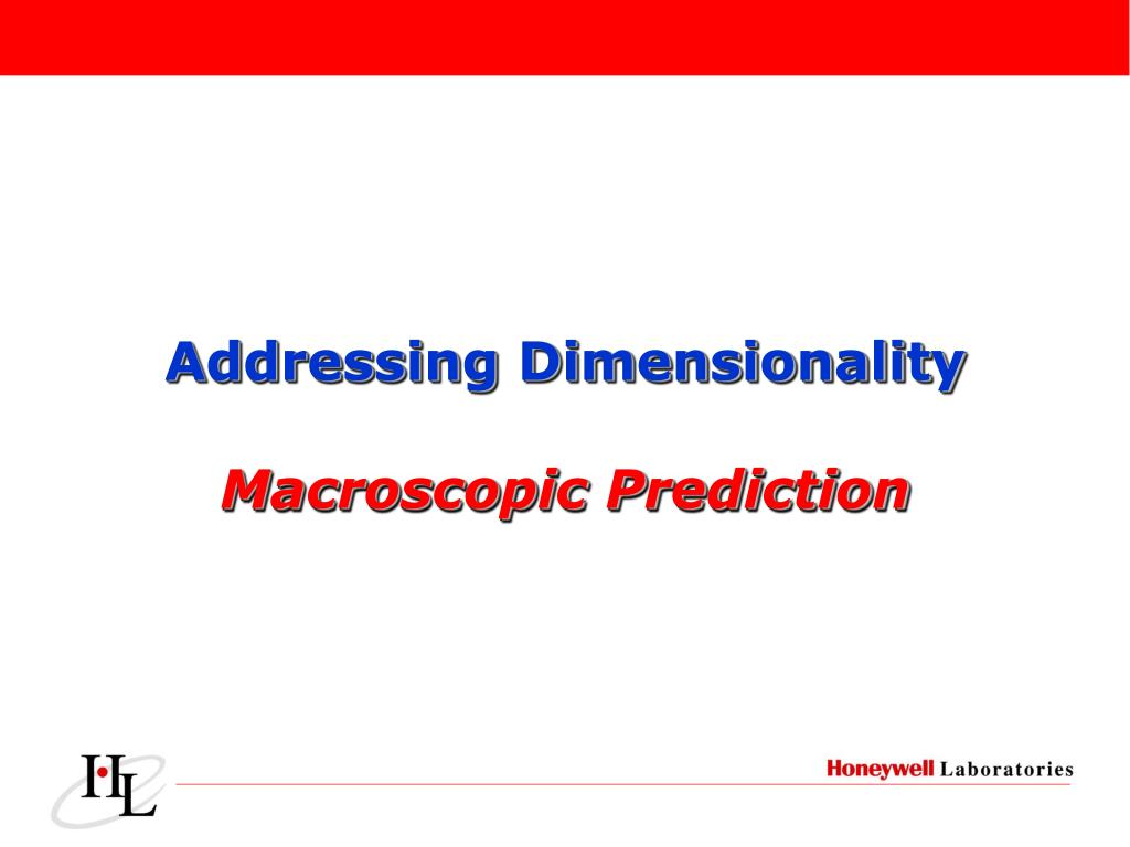 Addressing Dimensionality