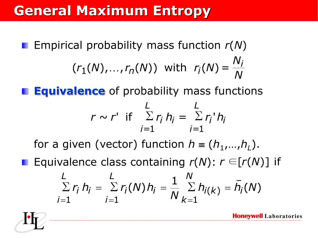 General Maximum Entropy