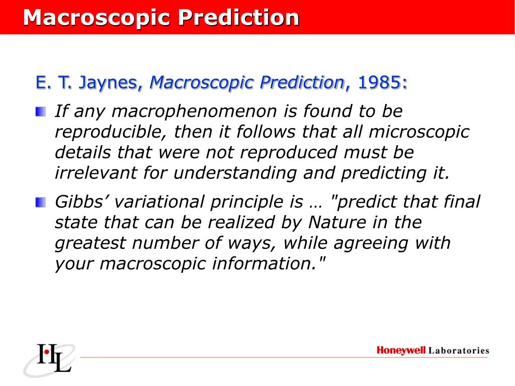 Macroscopic Prediction
