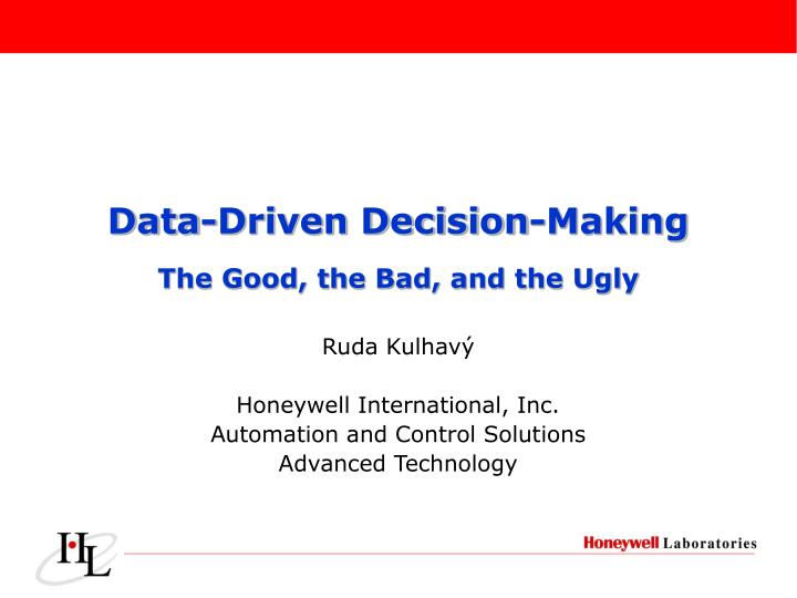 Data-Driven Decision-Making
