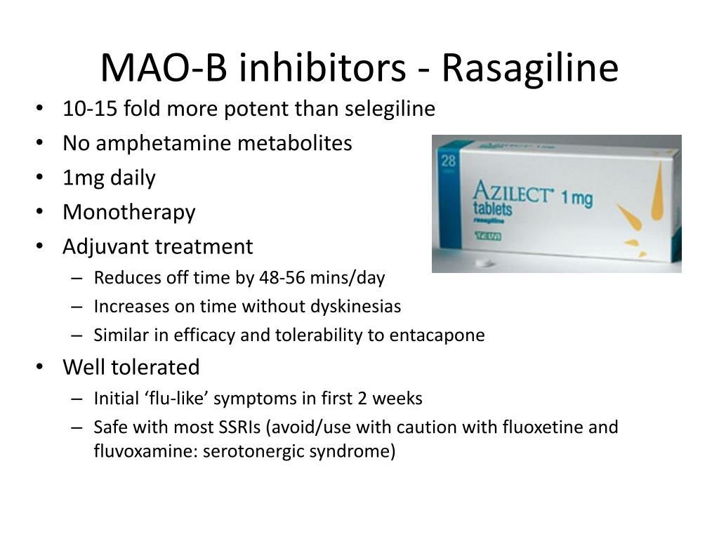 MAO-B inhibitors - Rasagiline