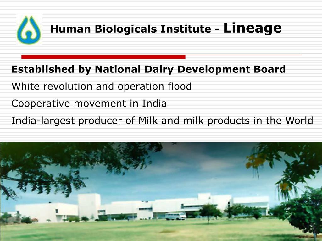 Human Biologicals Institute -