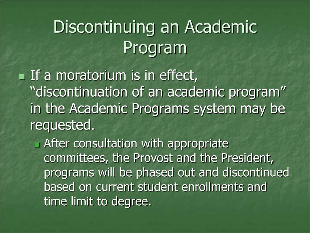 Discontinuing an Academic Program