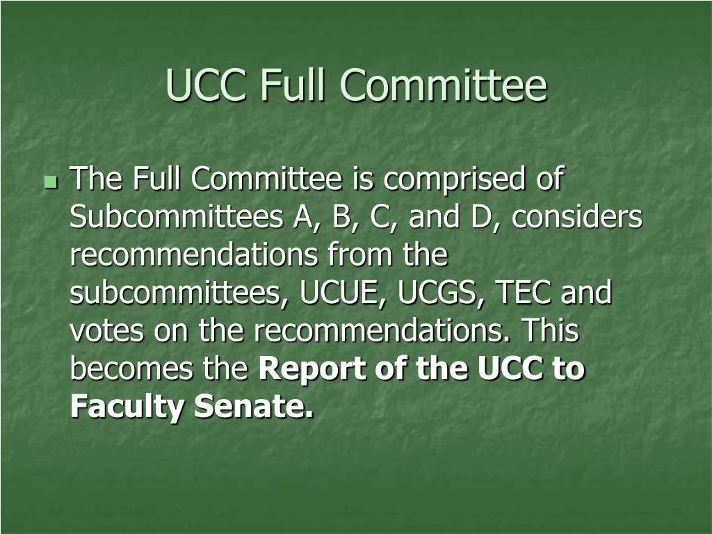 UCC Full Committee