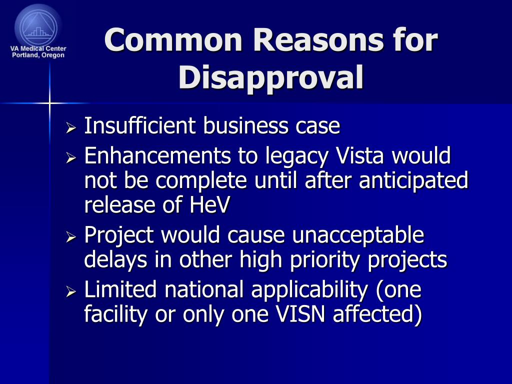 Common Reasons for Disapproval