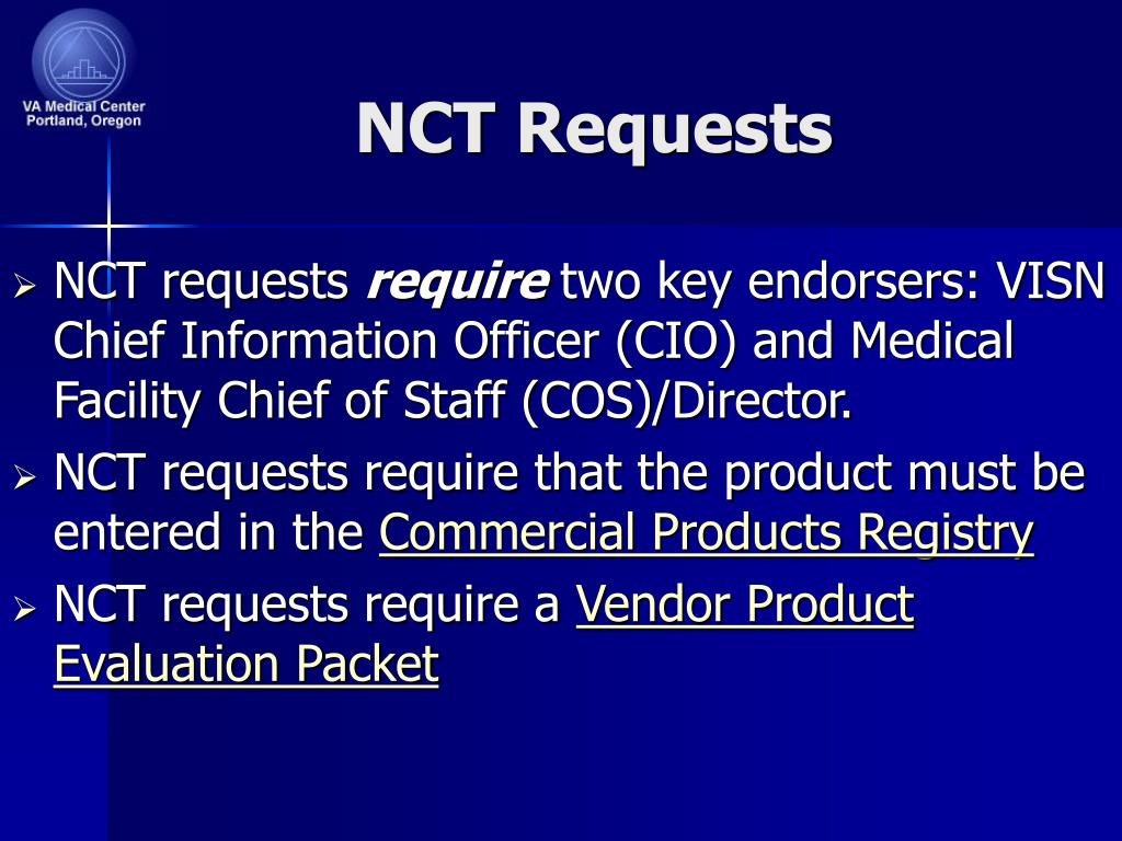 NCT Requests