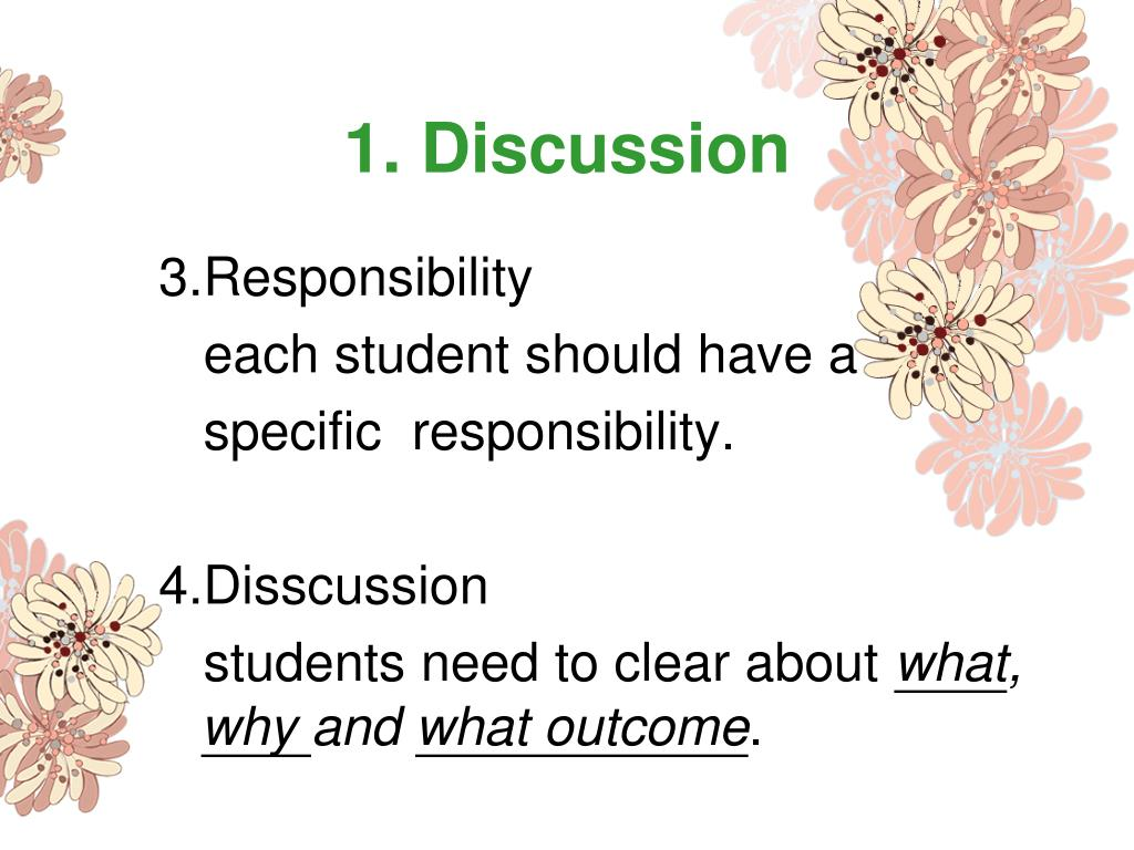 1. Discussion