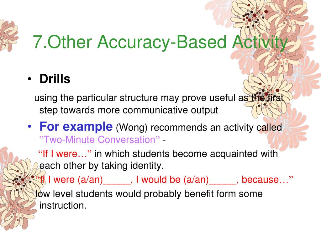 7.Other Accuracy-Based Activity