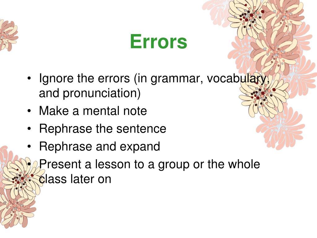 Errors