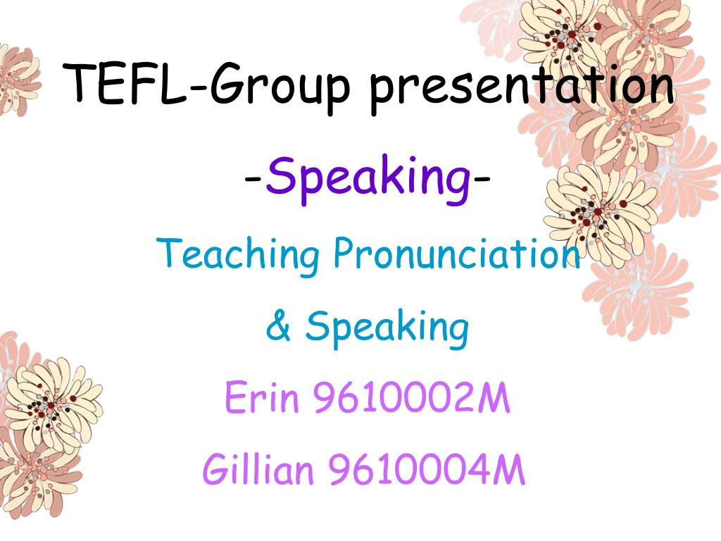 TEFL-Group presentation