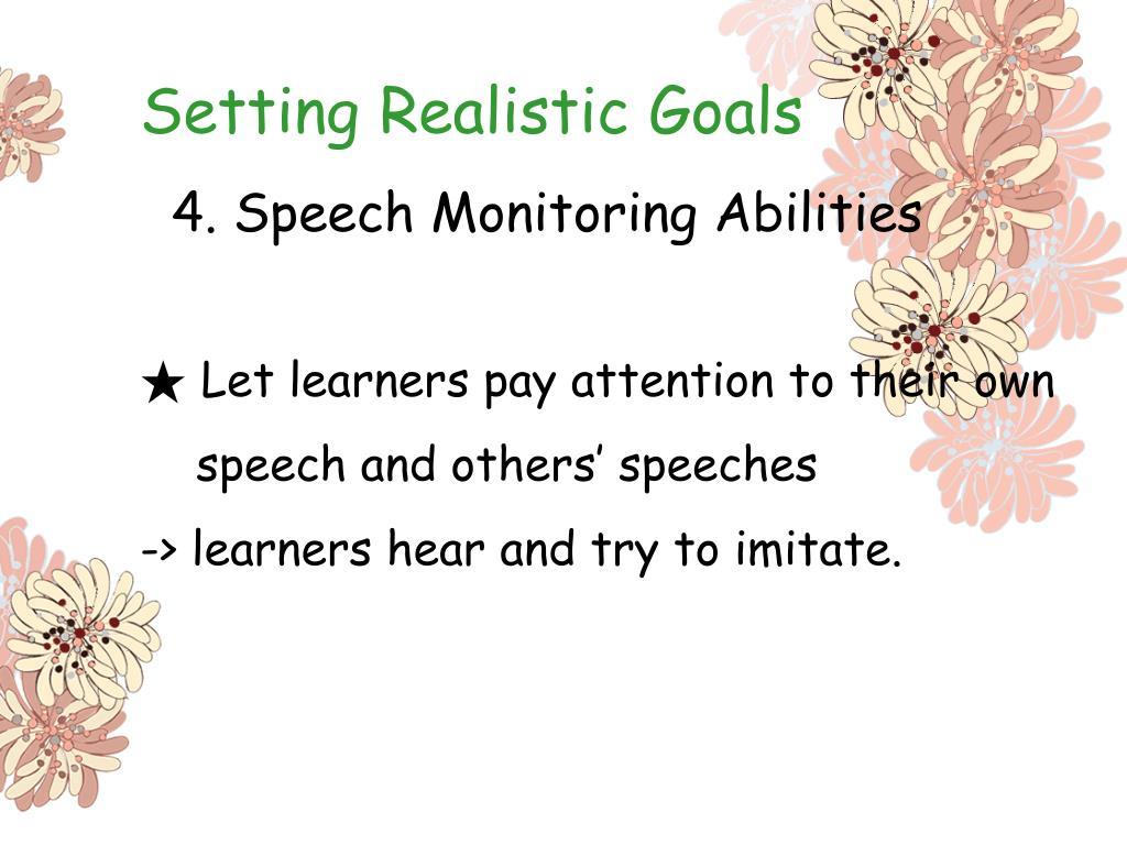 Setting Realistic Goals