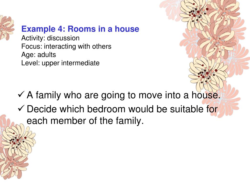 Example 4: Rooms in a house