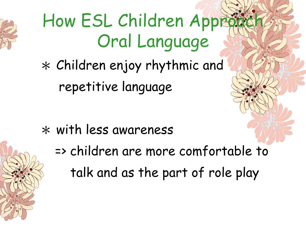 How ESL Children Approach