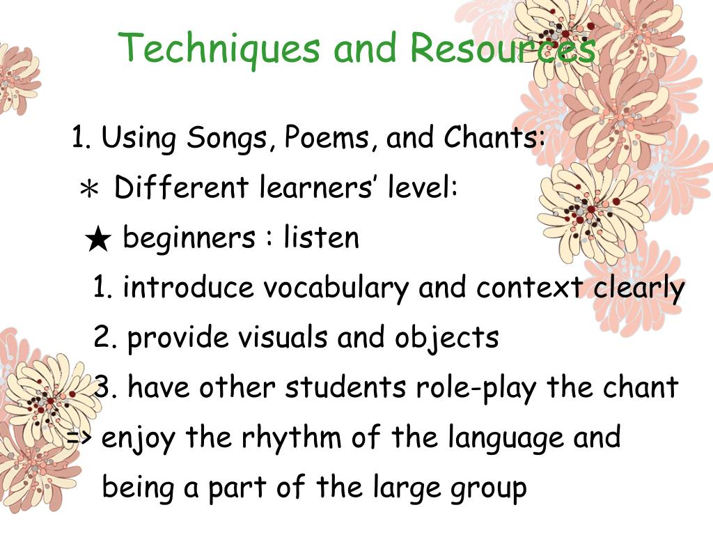 Techniques and Resources