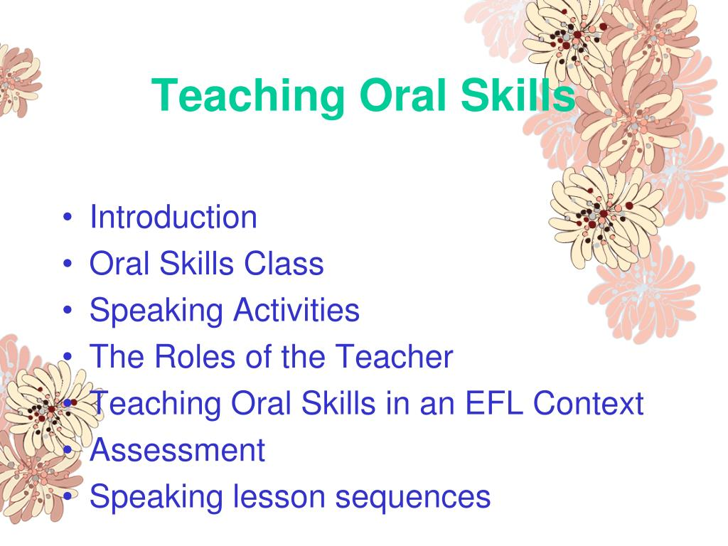 Teaching Oral Skills