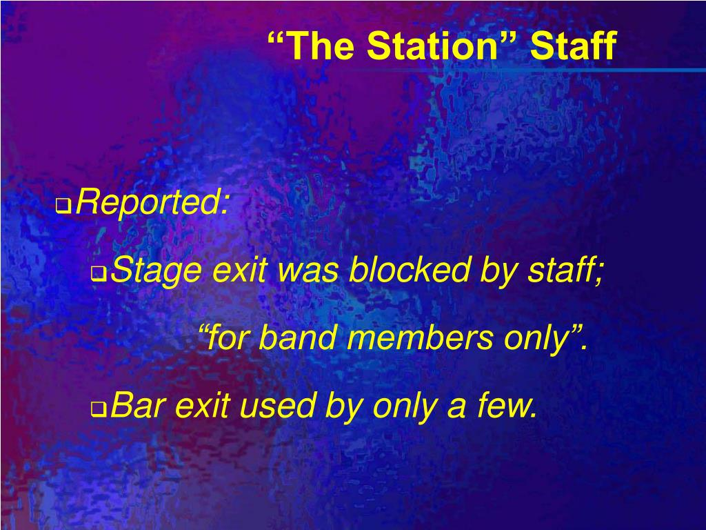 """The Station"" Staff"