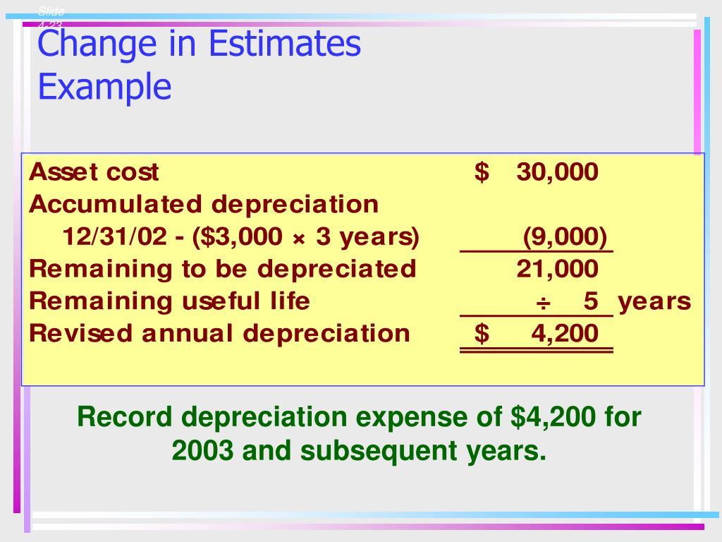 Change in Estimates