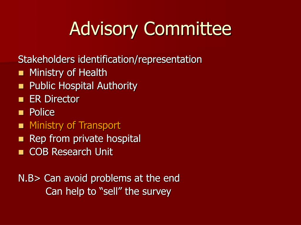 Advisory Committee