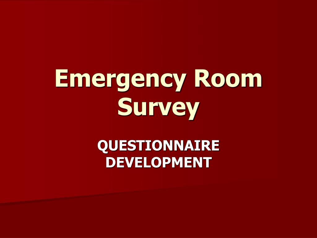 Emergency Room Survey