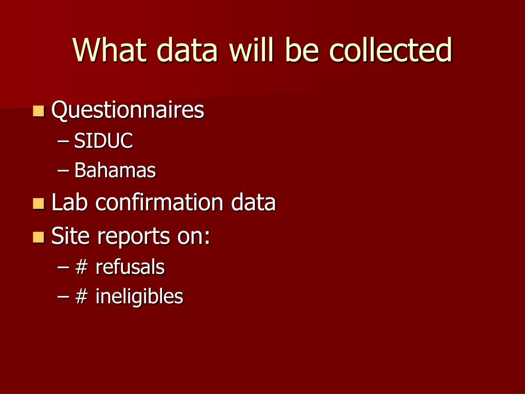 What data will be collected
