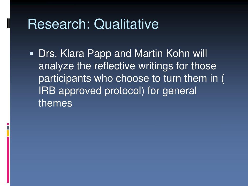Research: Qualitative