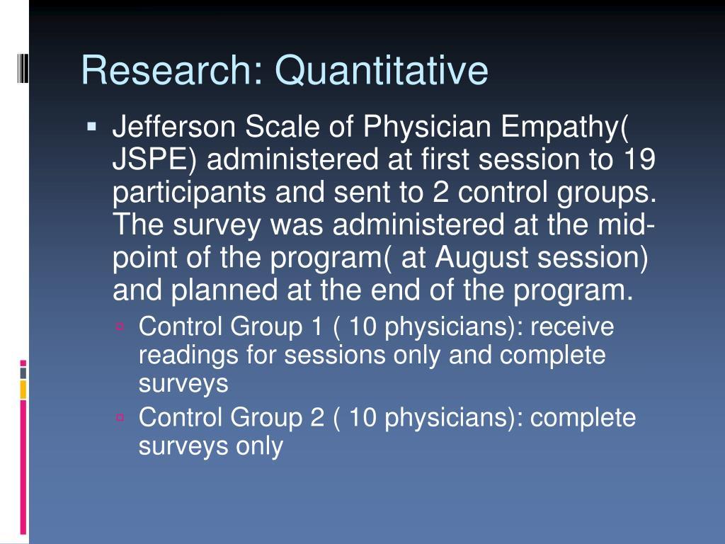 Research: Quantitative