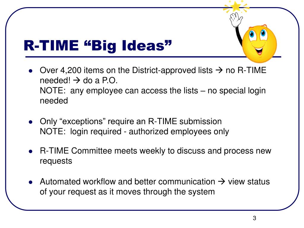 "R-TIME ""Big Ideas"""