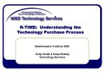 r time understanding the technology purchase process