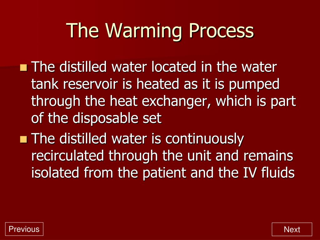 The Warming Process