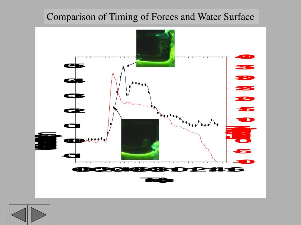 Comparison of Timing of Forces and Water Surface
