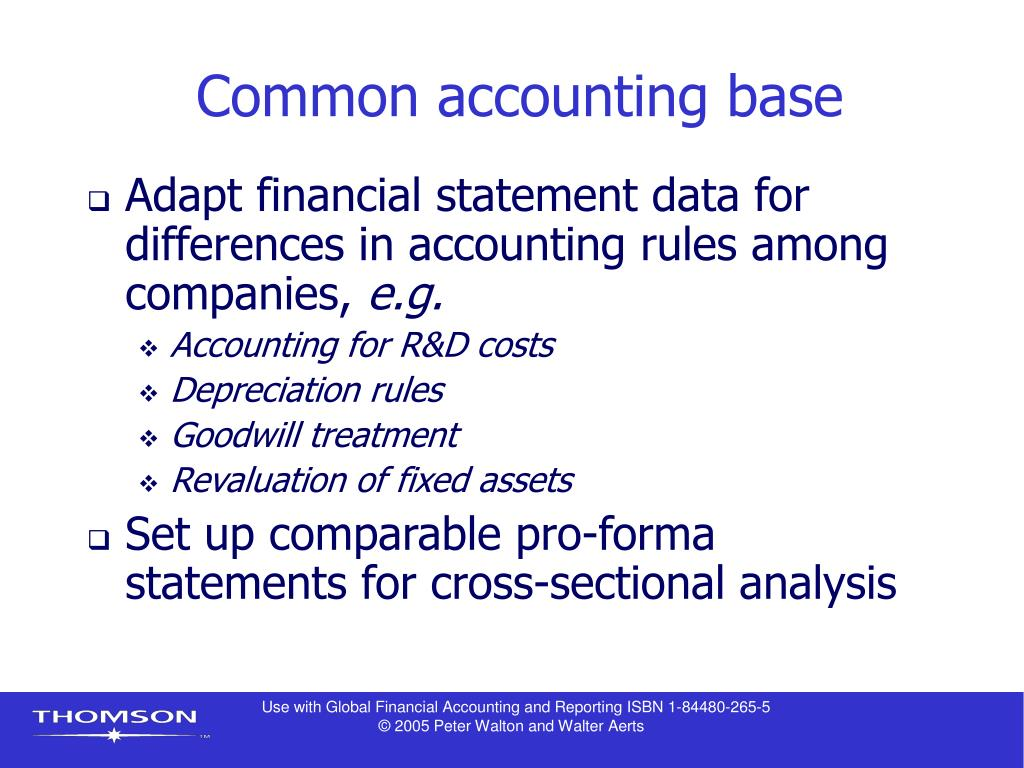 Common accounting base