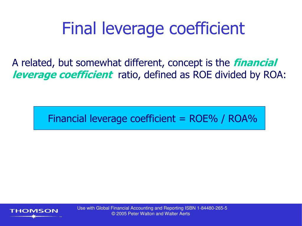 Final leverage coefficient