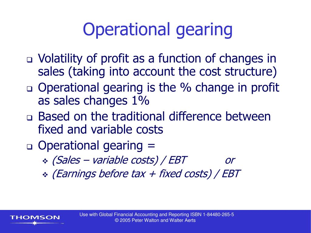 Operational gearing