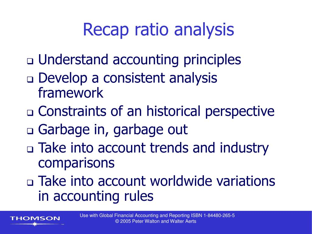 Recap ratio analysis