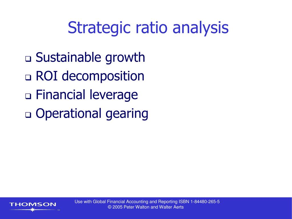 Strategic ratio analysis