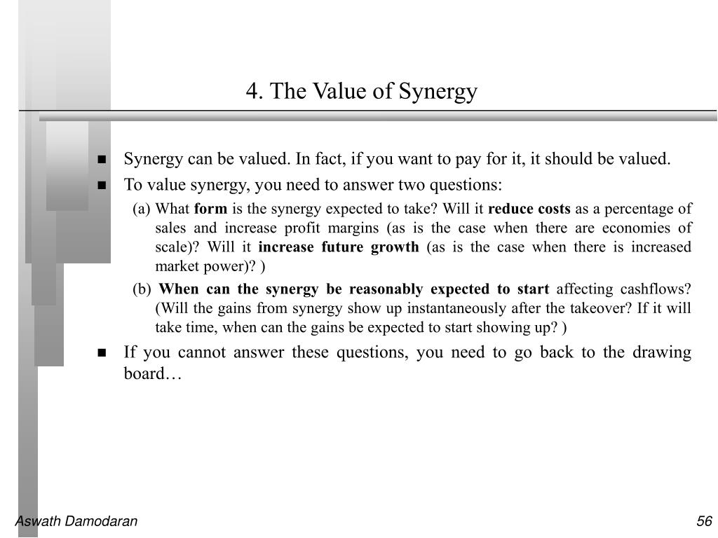 4. The Value of Synergy