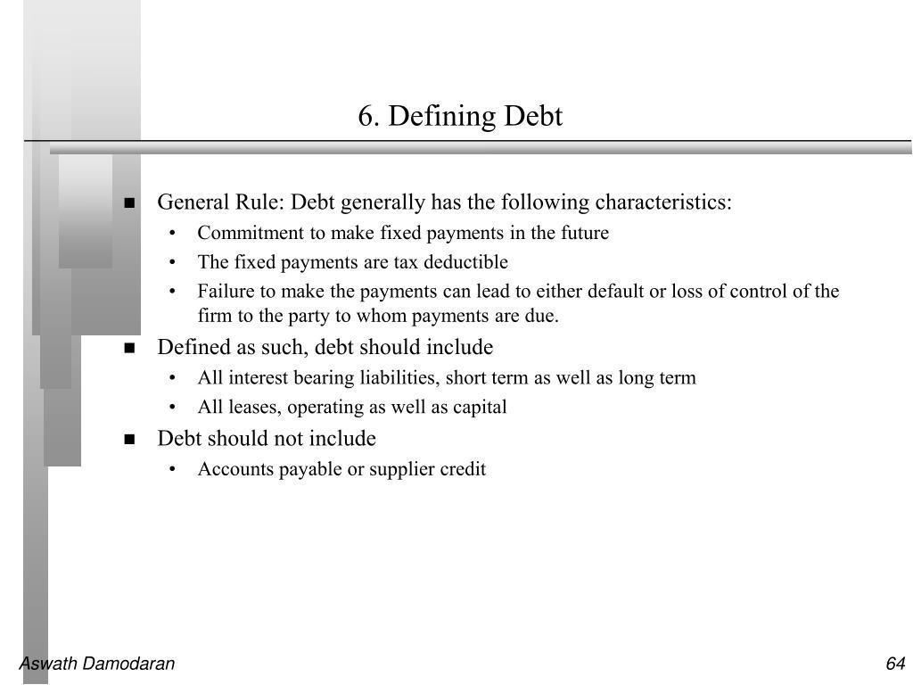 6. Defining Debt