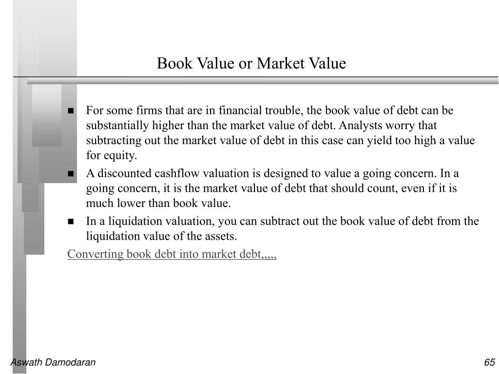 Book Value or Market Value